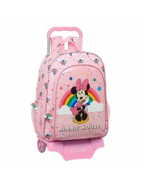 Minnie Mouse Rainbow Mochila grande ruedas, carro, trolley