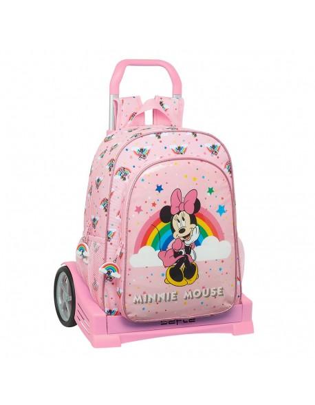 Minnie Mouse Rainbow Mochila con carro ruedas Evolution, Trolley