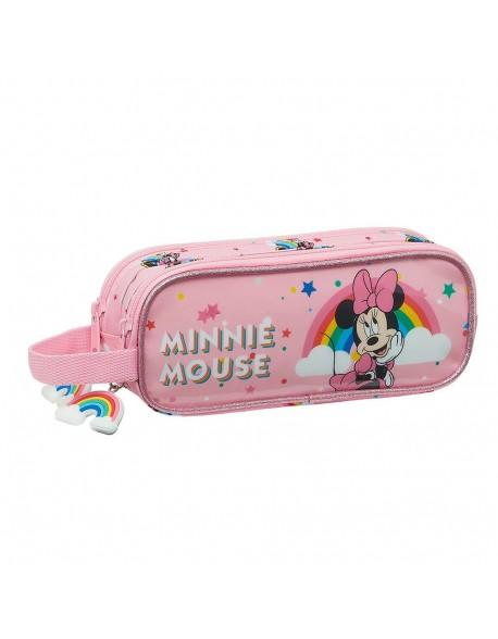Minnie Mouse Rainbow Estuche portatodo doble 2 cremalleras escolar