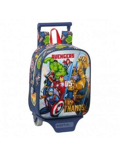 Avengers Heroes VS Thanos Mochila guardería ruedas, carro, trolley