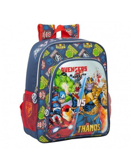 Avengers Heroes VS Thanos Mochila junior niño adaptable carro