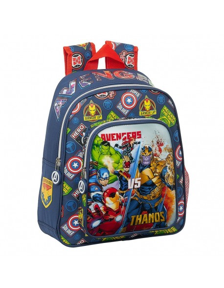 Avengers Heroes VS Thanos Mochila pequeña niño adaptable carro