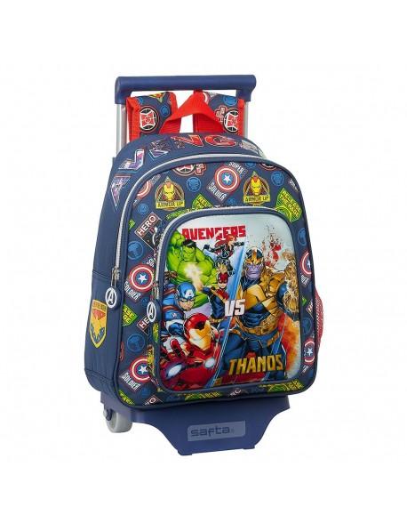 Avengers Heroes VS Thanos Mochila pequeña ruedas, carro, trolley