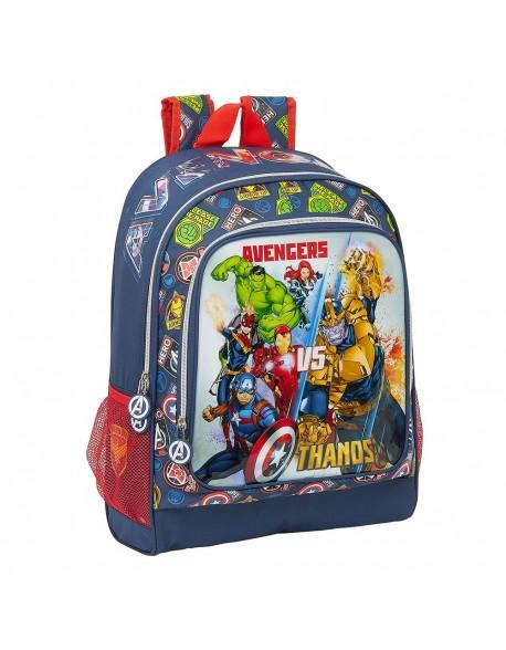 Avengers Heroes VS Thanos Mochila grande adaptable a carro