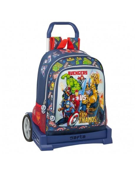 Avengers Heroes VS Thanos Mochila con carro ruedas Evolution, Trolley