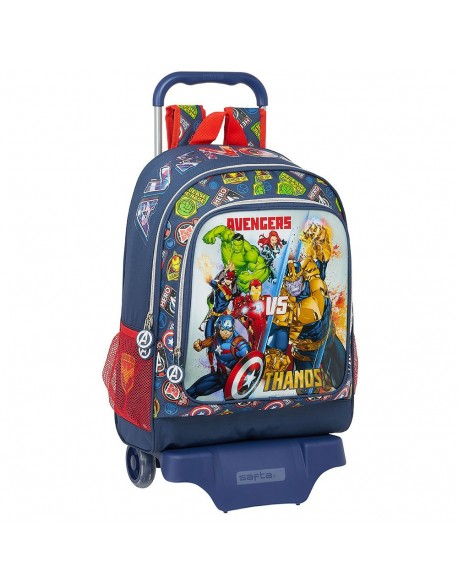 Avengers Heroes VS Thanos Mochila grande ruedas, carro, trolley