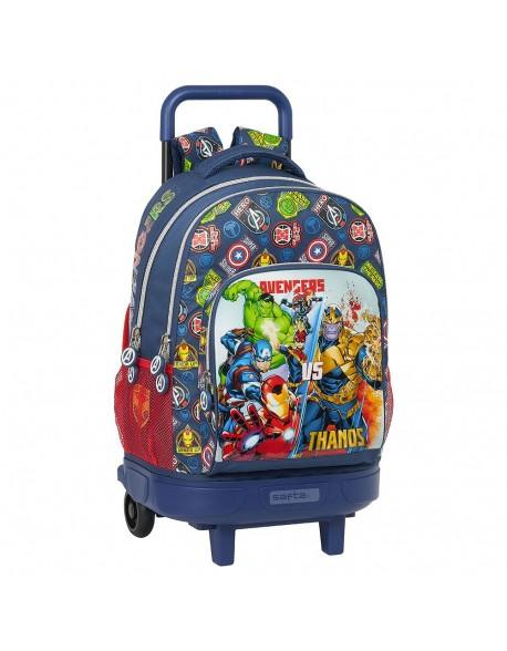 Avengers Heroes VS Thanos Mochila grande con ruedas carro, Trolley