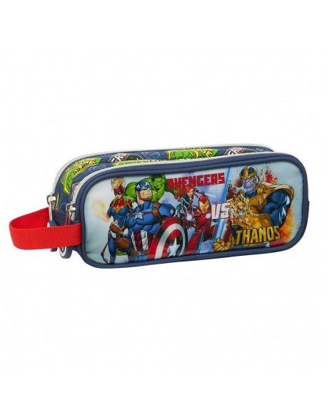 Avengers Heroes VS Thanos Estuche portatodo doble 2 cremalleras escolar
