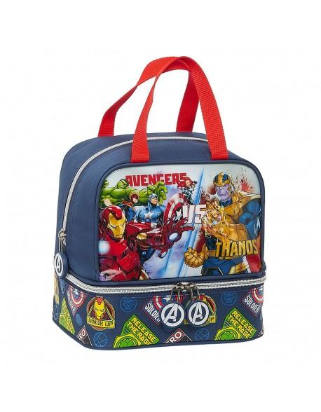 Avengers Heroes VS Thanos Portameriendas, Bolso para el almuerzo o la merienda niño