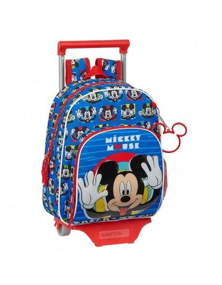 Mickey Mouse Me Time Mochila pequeña ruedas, carro, trolley