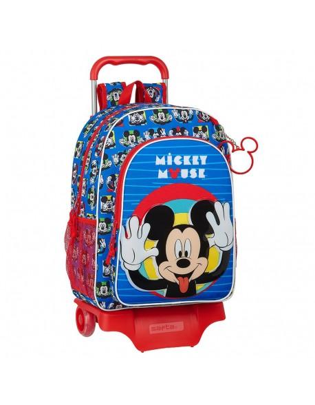 Mickey Mouse Me Time Mochila grande ruedas, carro, trolley