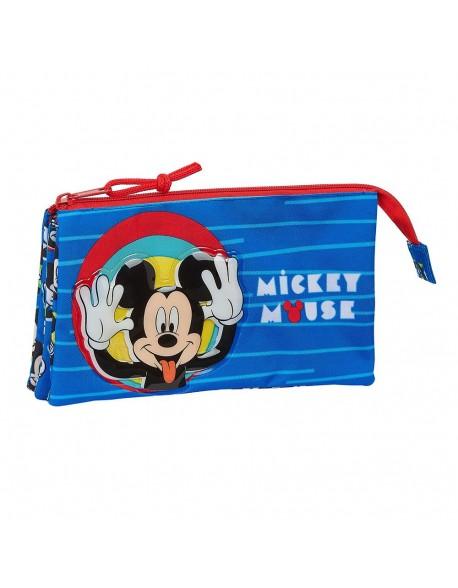 Mickey Mouse Me Time Estuche portatodo triple escolar