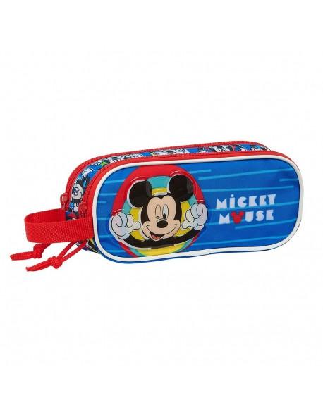 Mickey Mouse Me Time Estuche portatodo doble 2 cremalleras escolar