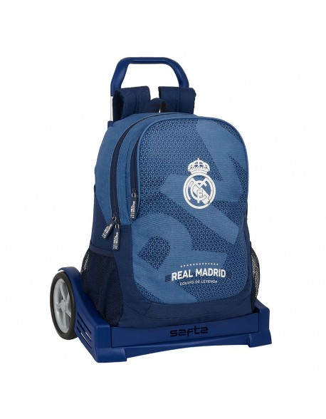 Real Madrid CF Leyenda Mochila con carro ruedas Evolution, Trolley