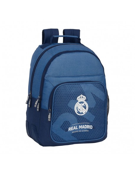 Real Madrid CF Leyenda Mochila doble escolar con cantoneras adaptable a carro