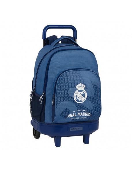 Real Madrid CF Leyenda Mochila grande con ruedas carro, Trolley