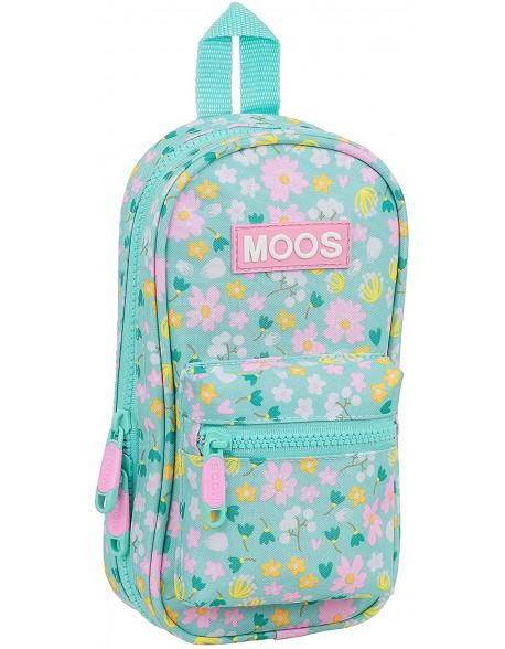 Moos Liberty Plumier mochila 4 estuches llenos, 33 piezas, escolar