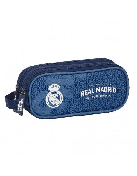 Real Madrid CF Leyenda Estuche portatodo triple 3 cremalleras escolar