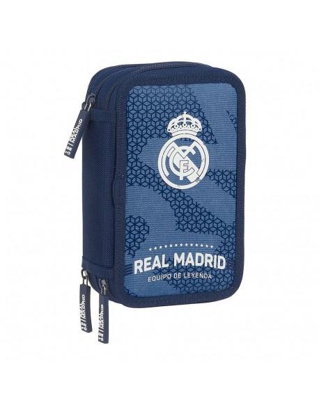 Real Madrid CF Leyenda Plumier triple estuche con 41 piezas