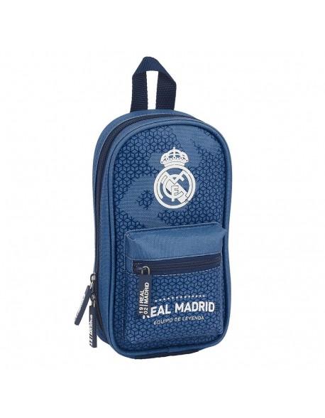 Real Madrid CF Leyenda Plumier mochila 4 estuches llenos, 33 piezas, escolar
