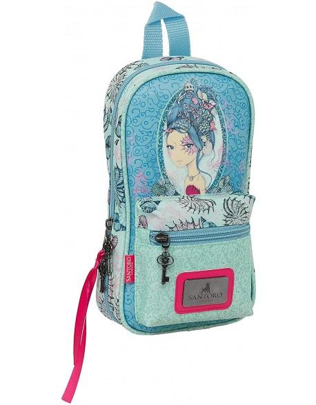 Mirabelle Marina Santoro Plumier mochila 4 estuches llenos, 33 piezas, escolar