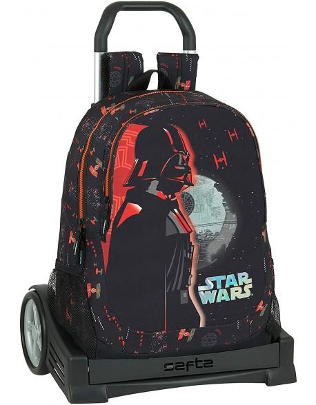 Star Wars Dark Side Mochila con carro ruedas Evolution, Trolley