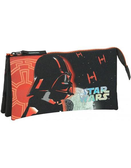Star Wars Dark Side Estuche portatodo triple escolar