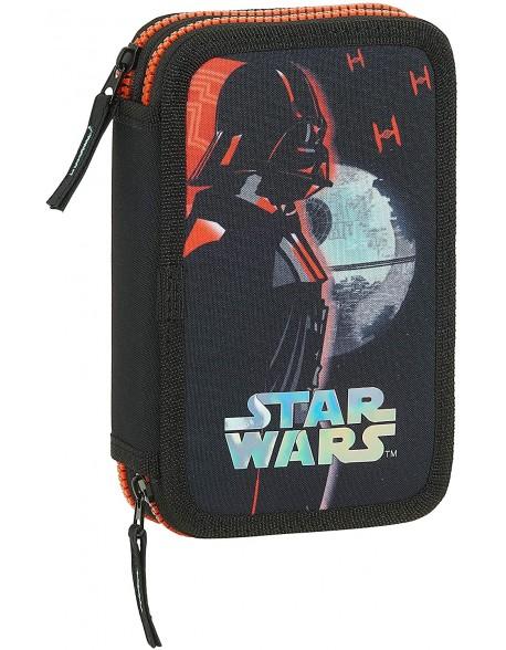 Star Wars Dark Side Plumier doble, estuche con 28 piezas, niño