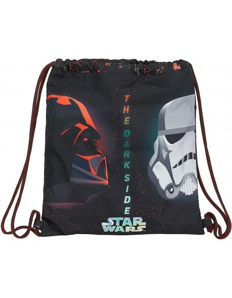 Star Wars Dark Side Saco mochila plano cuerdas 35 x 40 cm