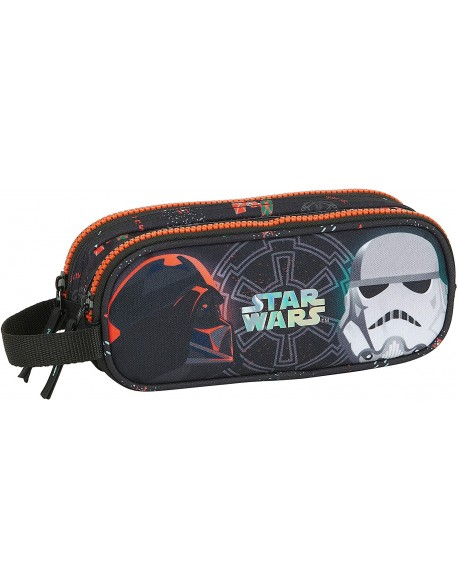 Star Wars Dark Side estuche portatodo doble 2 cremalleras escolar