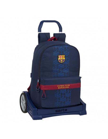 FC Barcelona Corporativa Mochila con carro ruedas Evolution, Trolley