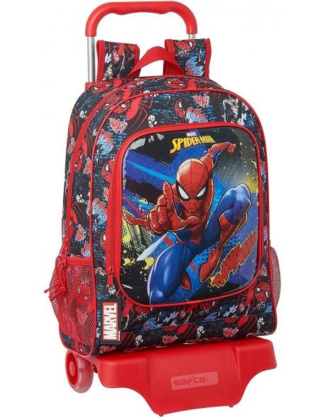 Spiderman Go Hero Mochila grande ruedas, carro, trolley
