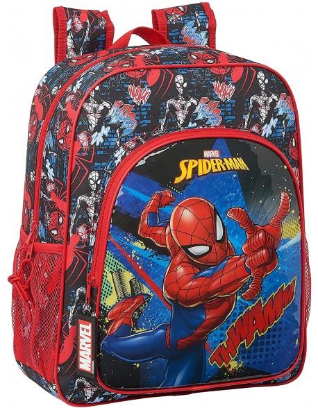 Spiderman Go Hero Mochila junior niño adaptable carro