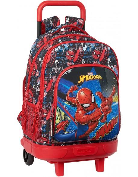 Spiderman Go Hero Mochila grande con ruedas carro, Trolley