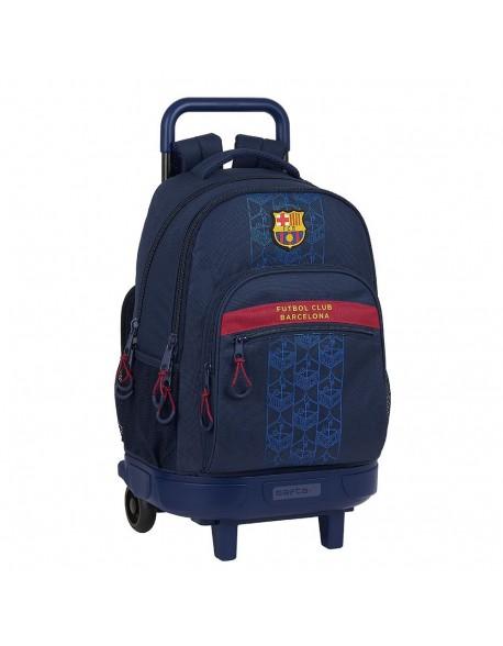 FC Barcelona Corporativa Mochila grande con ruedas carro, Trolley