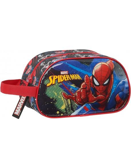 Spiderman Go Hero Neceser, bolsa de aseo adaptable a carro