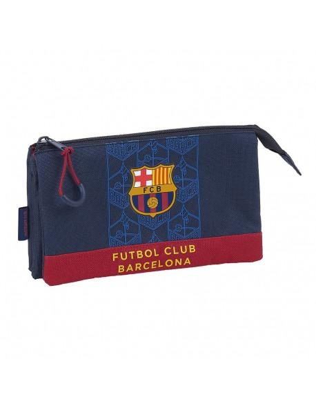 FC Barcelona Corporativa Estuche portatodo triple escolar