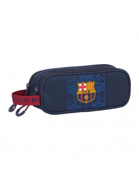 FC Barcelona Corporativa Estuche portatodo doble 2 cremalleras escolar