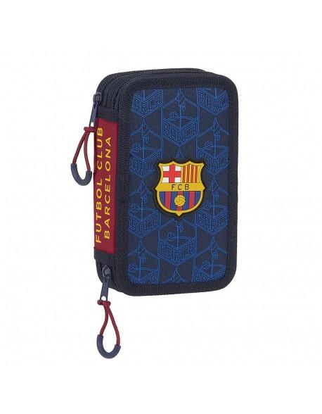 FC Barcelona Corporativa Plumier doble, estuche con 28 piezas, niño