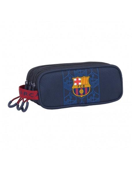FC Barcelona Corporativa Estuche portatodo triple 3 cremalleras escolar
