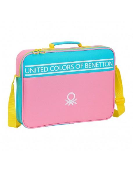 UCB Benetton Color Block Maletín cartera extraescolares niña