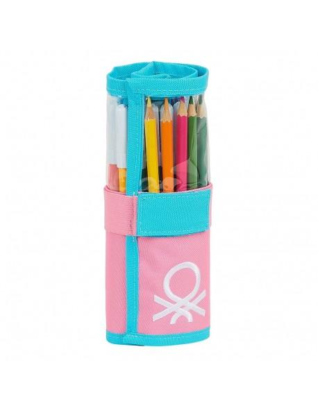 UCB Benetton Color Block Estuche enrollable 27 piezas