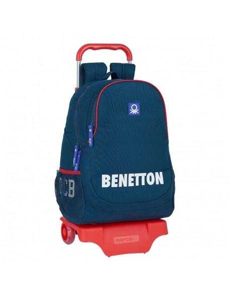UCB Benetton Navy Mochila grande ruedas, carro, trolley