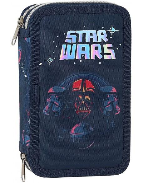 Star Wars Death Star Plumier doble, estuche con 28 piezas, niño