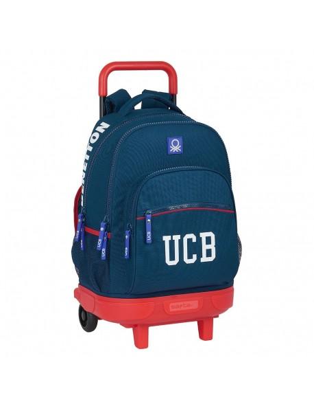 UCB Benetton Navy Mochila grande con ruedas carro, Trolley