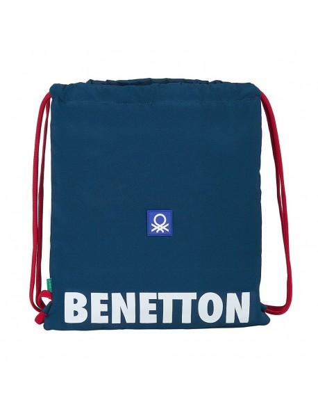 UCB Benetton Navy Saco mochila plano cuerdas 35 x 40