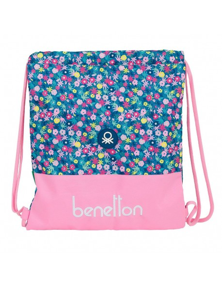 UCB Benetton Blooming Saco mochila plano cuerdas 35 x 40