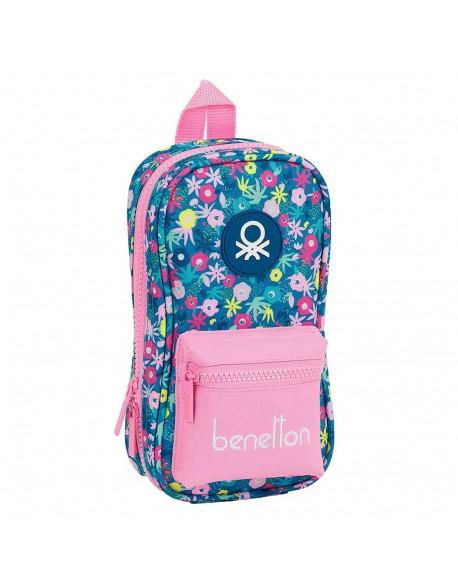 UCB Benetton Blooming Plumier mochila 4 estuches llenos, 33 piezas, escolar