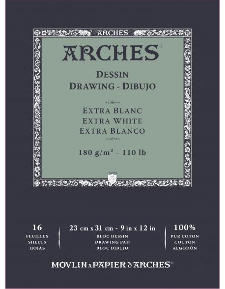 Arches Velin BFK Rives Grano Fino Lote 3 Blocs dibujo, 16 Hojas, 180g