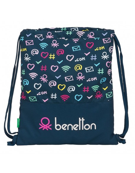 UCB Benetton Dot Com Saco mochila plano cuerdas 35 x 40